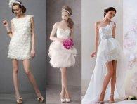 Вбрання для сміливих наречених: короткі весільні сукні